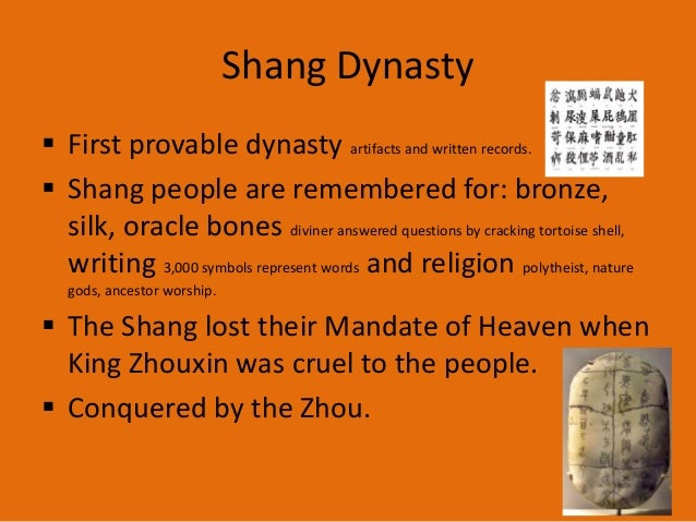 9b. Shang Dynasty — China's First Recorded History