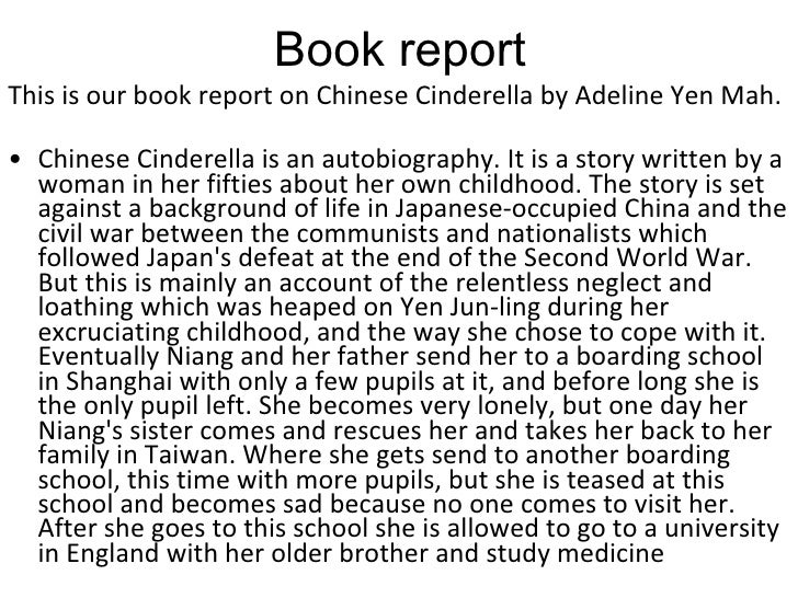 "chinese cinderella review essay Essay chinese cinderella by kassie espina 8t ""chinese cinderella is an autobiography about being unwanted and unloved discuss this statement with specific ."