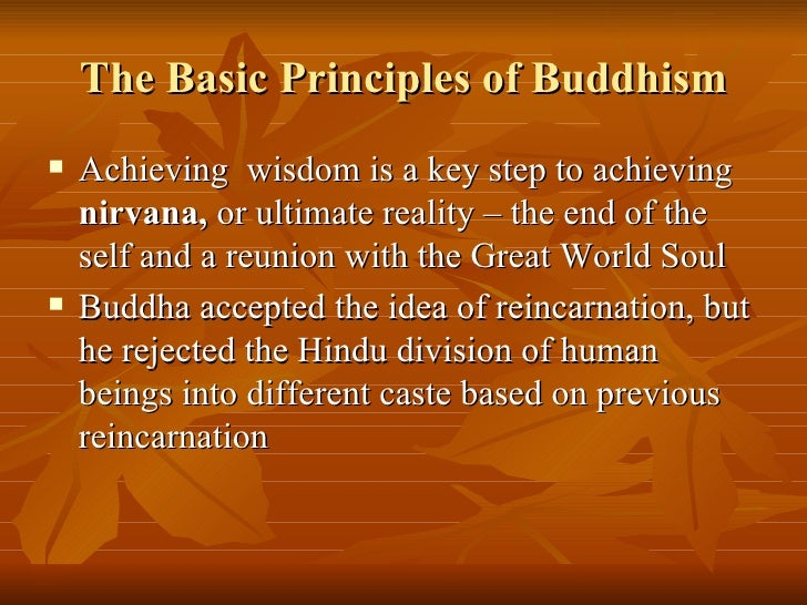 main tenets of buddhism