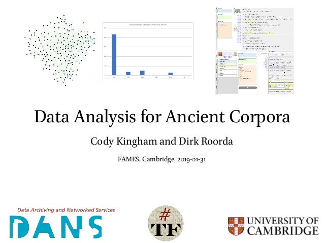 Data Analysis for Ancient Corpora Cody Kingham and Dirk Roorda FAMES, Cambridge, 2019-01-31 0 50 100 150 200 250 conj nmpr...