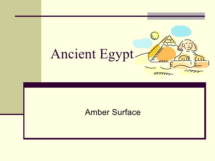 Ancient Egypt Amber Surface