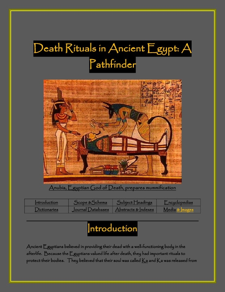 Death Rituals in Ancient Egypt: A                                  Pathfinder            Anubis, Egyptian God of Death, pr...