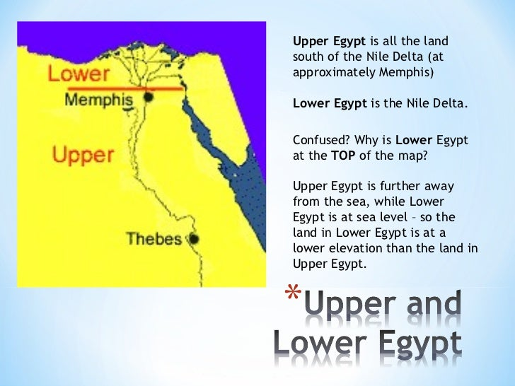 Ancient Egypt - Map of egypt upper and lower