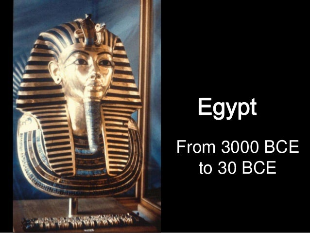 From 3000 BCE to 30 BCE