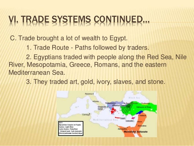 Egyptian trading system