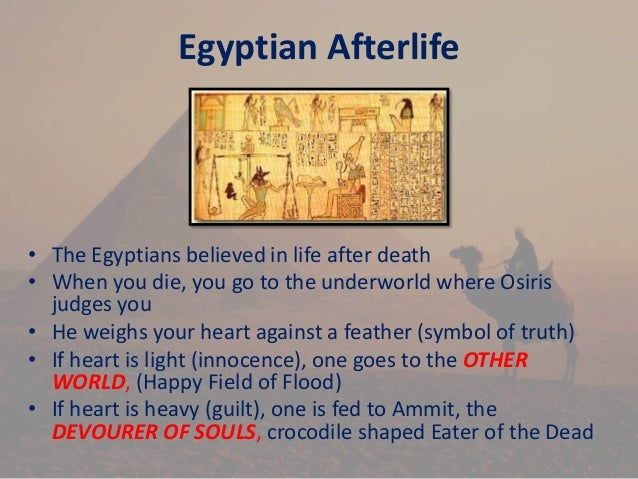 egyptians beliefs Mythology of ancient egypt  religion was very important to the ancient egyptians  one of the more famous aspects of the egyptian religious beliefs was their.
