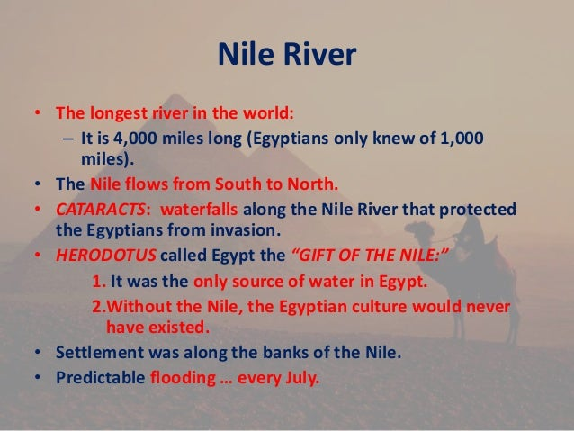 A history and life of the egyptian people and the introduction to the culture of the nile