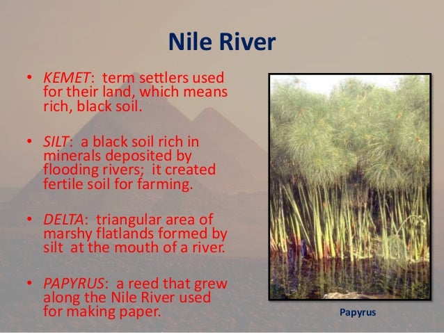 the importance of the nile river in creation of egypt