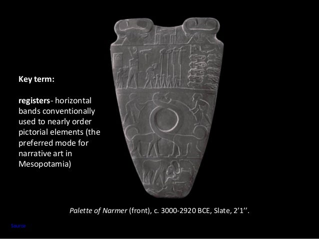 apollo vs the palette of narmer Whereas, in the early 20th century ce, a piece like the narmer palette was read as history, it is now interpreted as representing cultural values of the period while there is certainly some logic and method to this new approach, it makes precise dating nearly impossible.