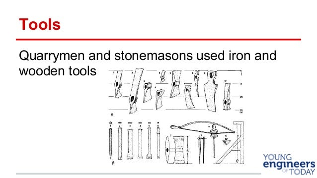 Tools Quarrymen And Stonemasons Used Iron Wooden