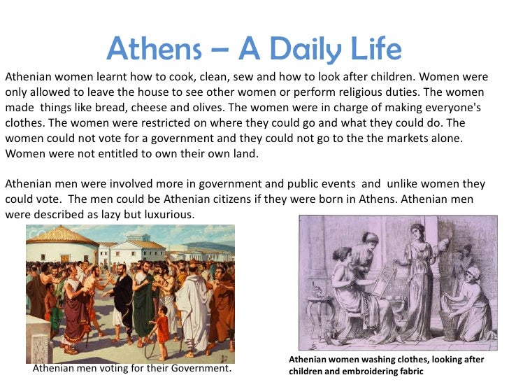 everyday life in ancient athens