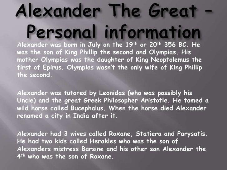 Report On Alexander The Great