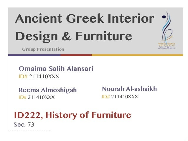 ancient greece interior design furniture rh slideshare net