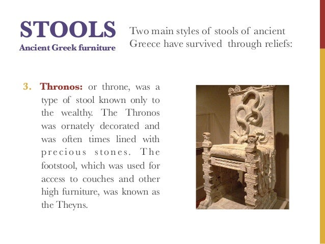 Stools Ancient Greek Furniture Two Main Styles Of