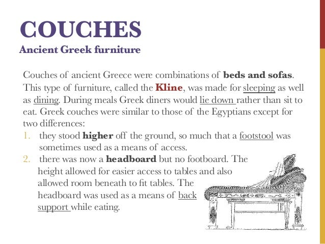 17. COUCHES Ancient Greek Furniture ...