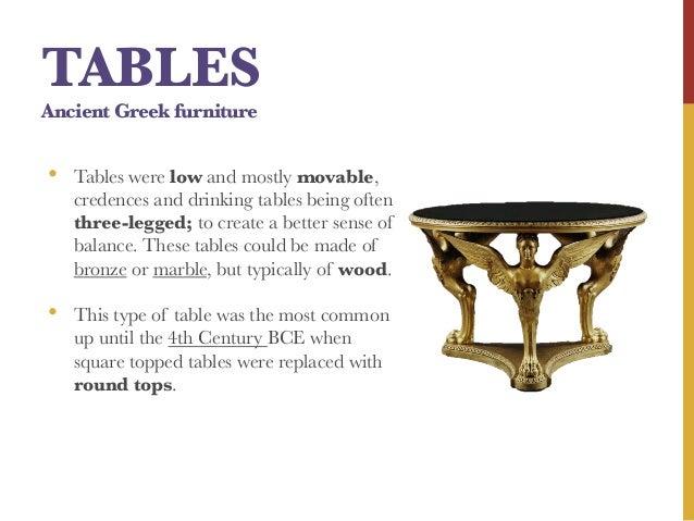18. TABLES Ancient Greek Furniture ...