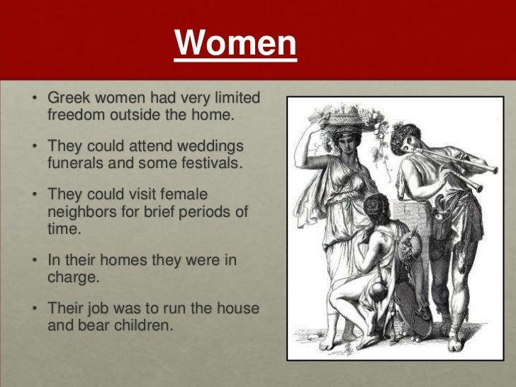 role of women in greece