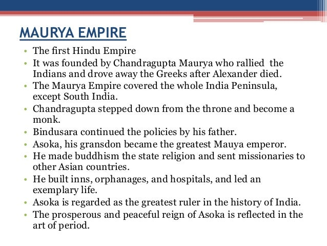 a biography of the mauryan ruler asoka maurya Ashoka: ashoka, last major emperor in the mauryan dynasty of india his vigorous patronage of buddhism during his reign (c 265–238 bce also given as c 273–232 bce) furthered the expansion of that religion throughout india.