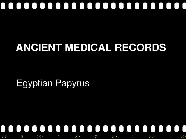 Surgery and medicine In ancient Egypt