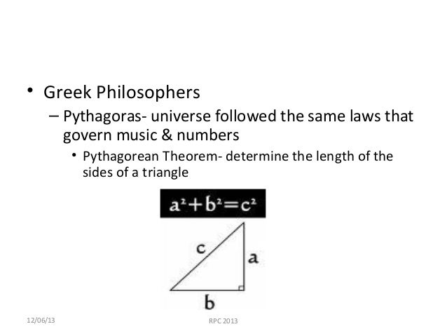 an analysis of the concept of the pythagoras theorem It is shown that: 1) the pythagorean theorem represents a conventional  and the  law of lack of contradiction of geometrical forms 3) the concept of irrational.