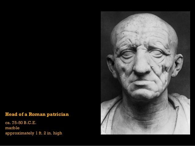 Facial expressions of roman art