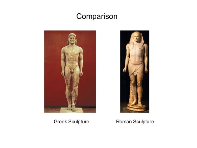 What is the difference between Roman art and Greek art?