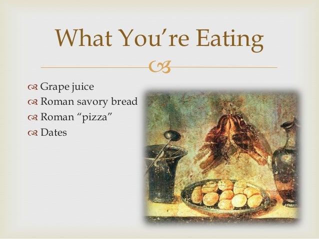 roman ancient eating bread posca