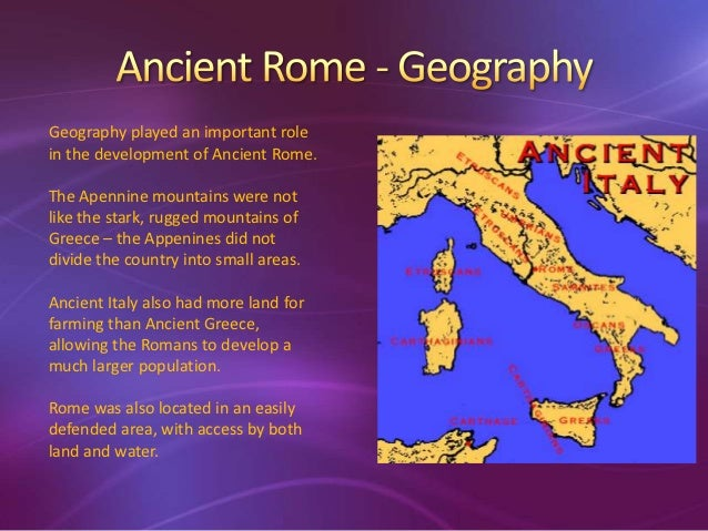 Ancient Rome - Geography of rome