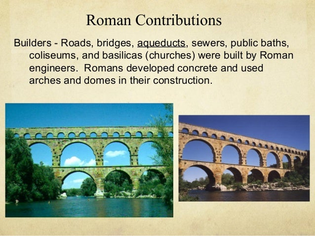 roman contributions to the modern world