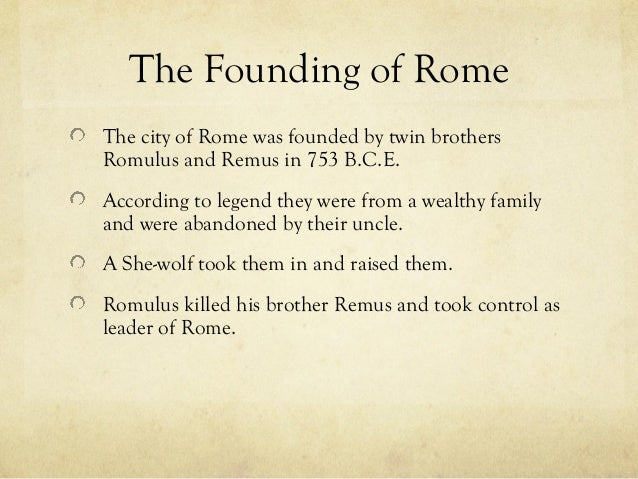 who found the city of rome - photo#6