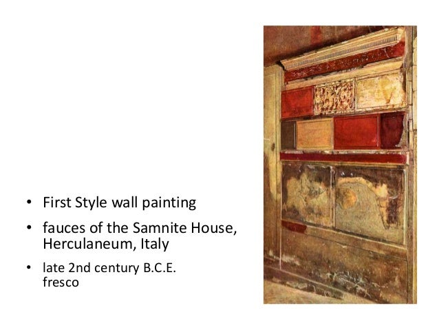 First Style Wall Painting In The Fauces Of The Samnite House Ancient rome