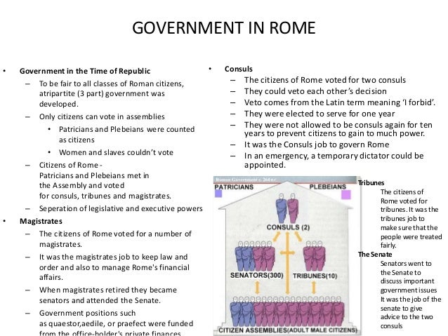 the political structures of the roman The roman civilization was one of the most important civilizations occurred in the  world political system in the roman period encouraged people's participation.