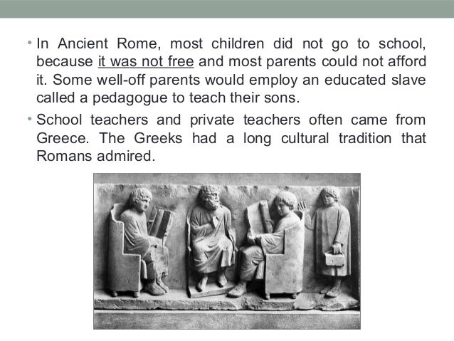 What did Romans learn at school - Answers.com