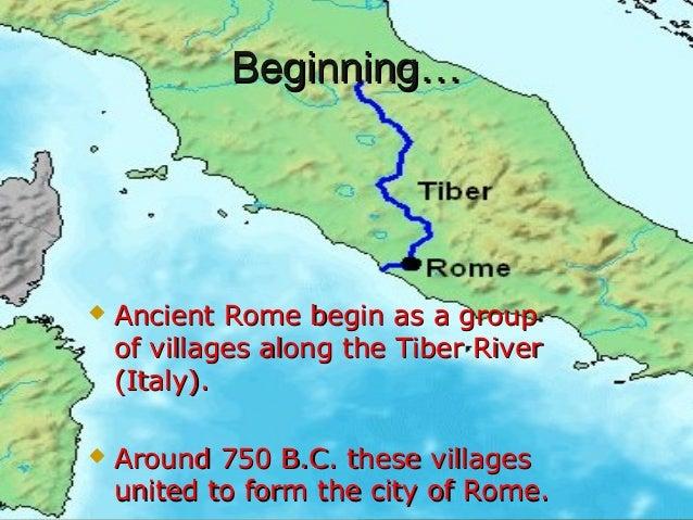 Ancient Rome - Ancient rome map tiber river