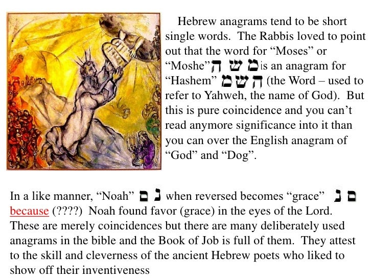 Ancient secret codes and wordplay in the bible