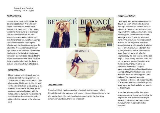 Digipak Analysis 1 - Beyonce '4'