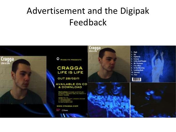 Advertisement and the Digipak Feedback<br />