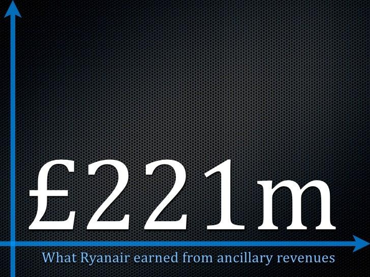 £221m WhatRyanairearnedfromancillaryrevenues
