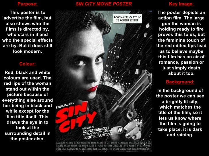 Sin city movie poster analysis essay