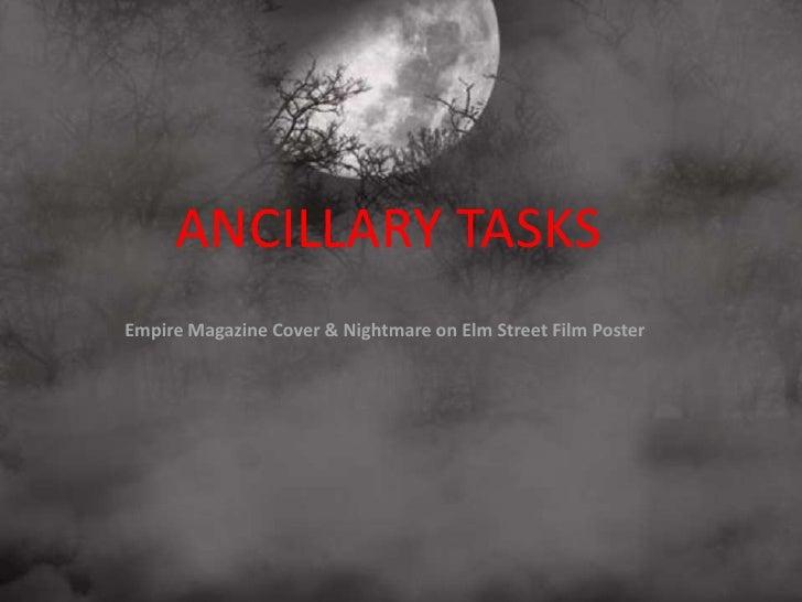 ANCILLARY TASKSEmpire Magazine Cover & Nightmare on Elm Street Film Poster