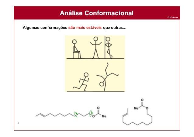 Prof. Nunes Algumas conformações são mais estáveis que outras... Análise ConformacionalAnálise Conformacional 8