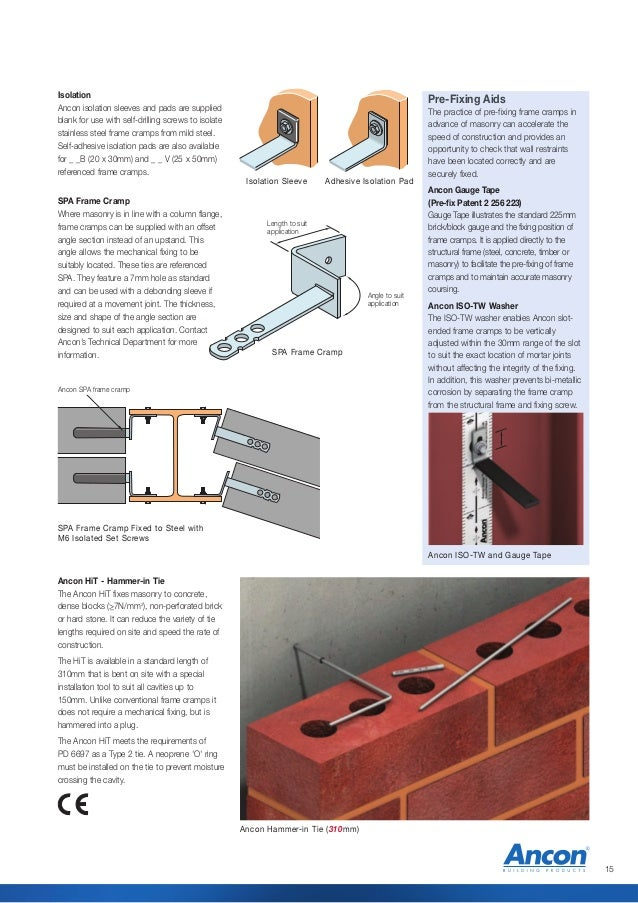 Ancon Wall Ties And Restraint Fixings For Brick Block And