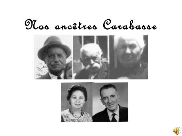 Nos ancêtres Carabasse