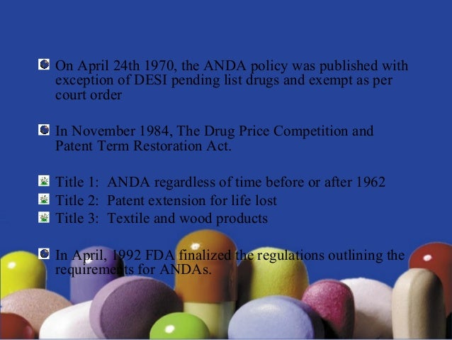 ABBREVIATED NEW DRUG APPLICATION (ANDA) by Anthony crasto