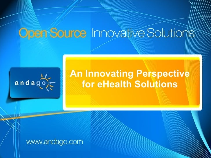 Start        An Innovating Perspective          for eHealth Solutions