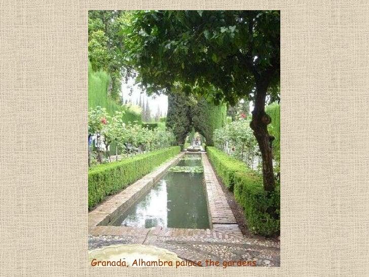 Granada, Alhambra palace the gardens