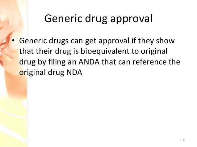 Generic drug approval in the United States - ANDA regulations