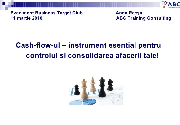 Eveniment Business Target Club  Anda Rac ş a 11 martie 2010  ABC Training Consulting   <ul><li>Cash-flow-ul – instrument e...