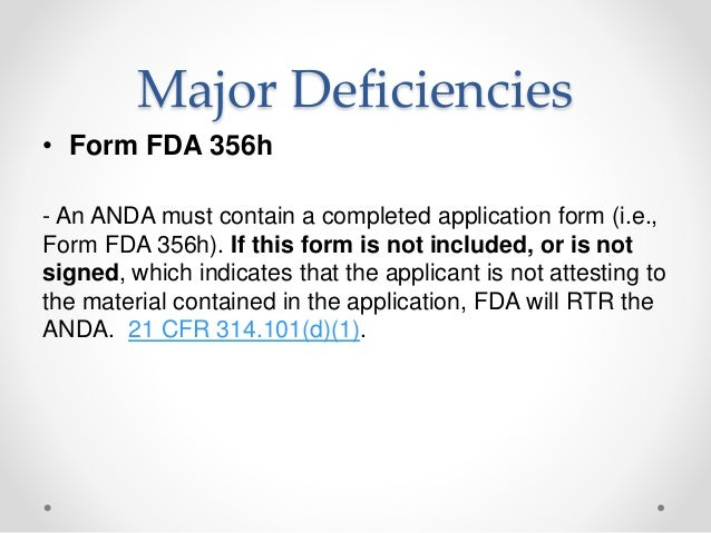 Anda submissions – refuse to-receive standards