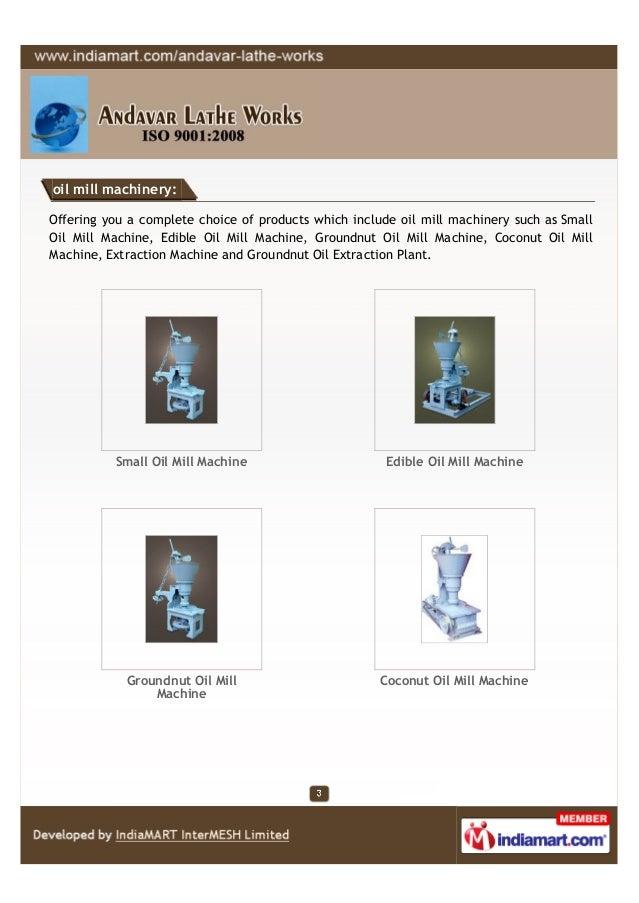 Andavar Lathe Works, Erode , Oil Mill Rotary Slide 3